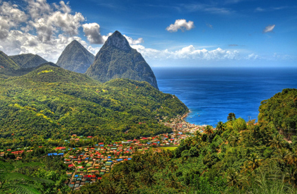 St Lucia and the Pitons