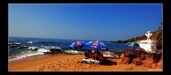 Retreat on beaga beach, goa